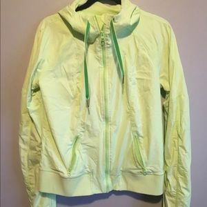 Lululemon street to studio lime green jacket 12